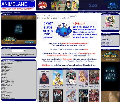 Visit AnimeLane DVD Rental Site