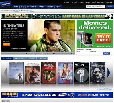 Visit Blockbuster DVD Rental Site