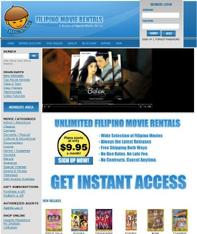 Visit Filipino Movie Rentals DVD Rental Site