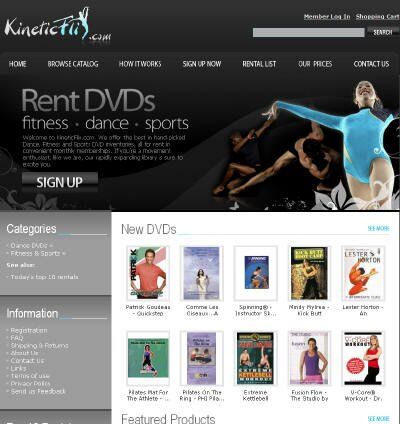 Visit KineticFlix DVD Rental Site